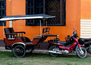 The tuk-tuk...one mode of transportation.